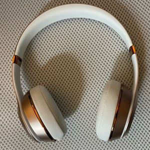 Barely used Rose Gold Beats Solo 3 by Dre